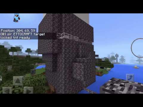 Minecraft super cannon with AI Voice