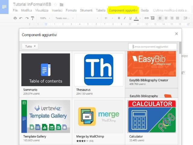 Google Drive Add-Ons Componenti Aggiuntivi e Sheets Script Cosa sono? Come usarli? 3