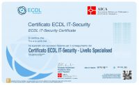 Corso Online ECDL Certificato IT Security Specialised Level Certificazione Informatica Riconosciuta MIUR