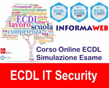 Simulazioni AICA Modulo 5 Nuova ECDL IT Security