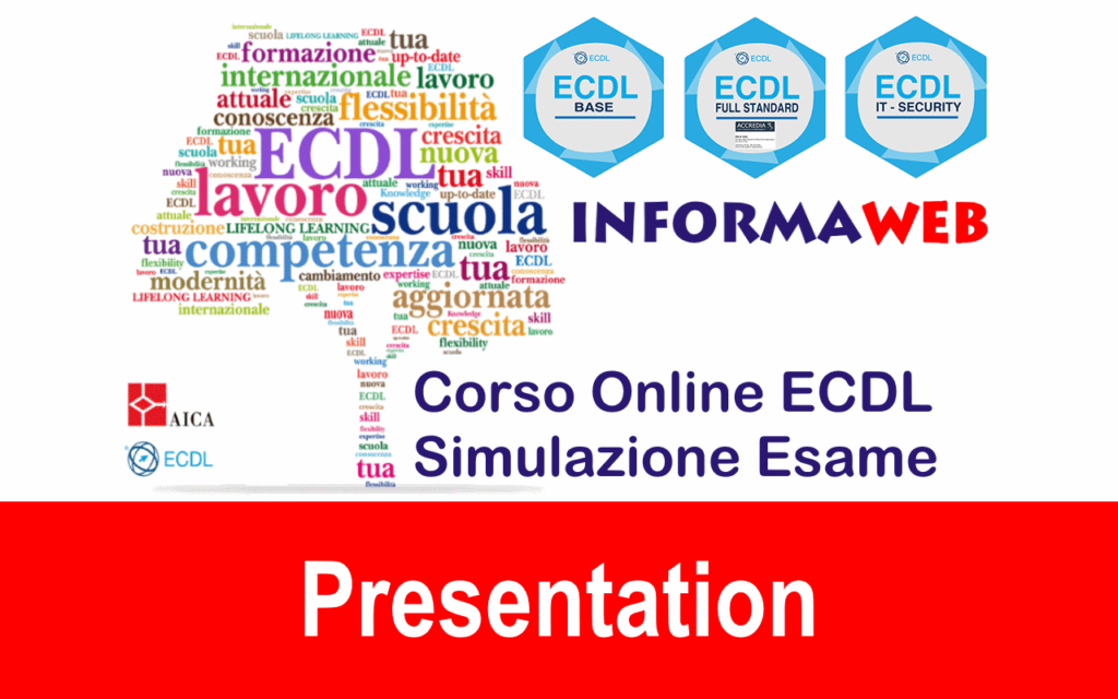 Nuova ECDL Modulo 6 Presentation