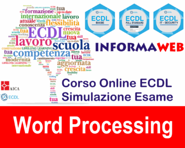 Nuova ECDL Modulo 3 Word Processing AICA Word 2013
