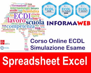 Nuova ECDL Modulo 4 Spreadsheet Excel 2013