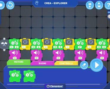RoboMaker Clementoni APP Programmazione a Blocchi Coding