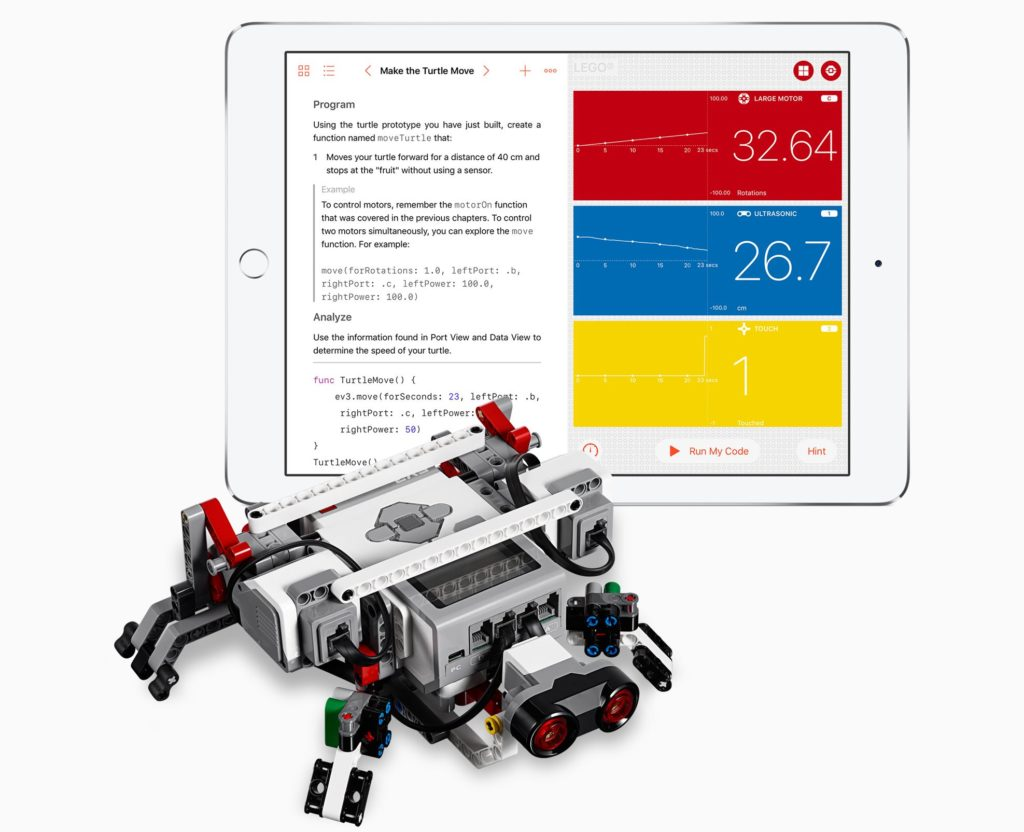 Swift Playgrounds iPad coding con Lego Ev3 Mindstorm