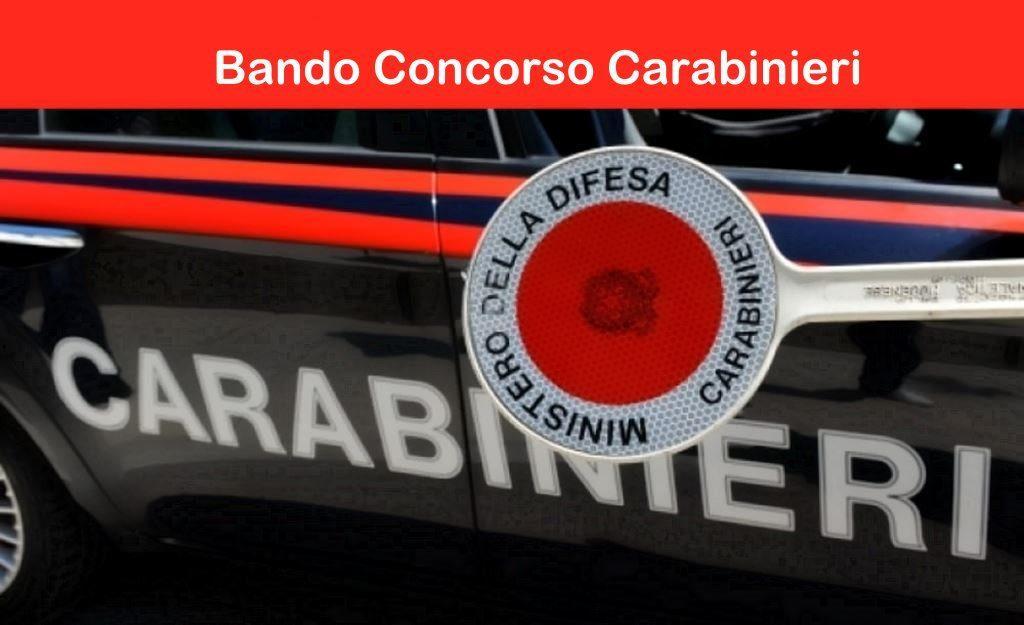 bando concorso carabinieri arma dei carabinieri assume allievi