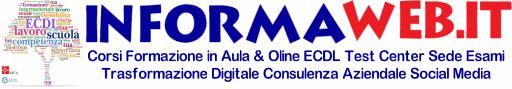 InFormaWEB.IT Corsi Online Certificazioni Informatica Attestato ECDL ICDL Sede esami AICA Titoli Riconosciuti MIUR Personale ATA Docente