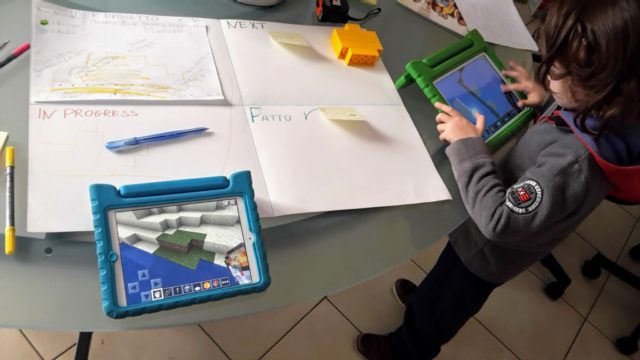 Agile con Minecraft e iPad EttoCraft all'opera