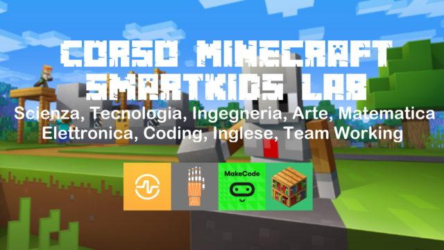 Imparare giocando con Minecraft STEM Scienze Tecnologia Matematica Coding Corsi per bambini 8+