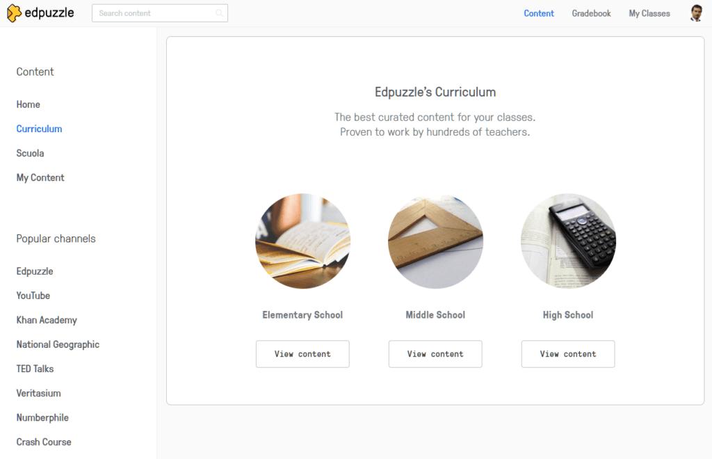 edpuzzle lezioni interattive home page